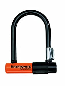 Kryptonite Evolution Mini-5 Bicycle U-Lock with Transit FlexFrame Bracket (3.25-Inch... by Kryptonite