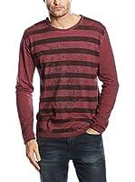 SIDECAR Camiseta Manga Larga Andres (Granate)