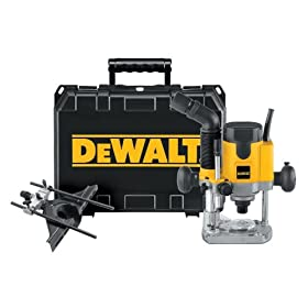 DEWALT DW621K  2-Horsepower VS Electronic Plunge Router Kit with Carrying Case and Universal Edge Guide