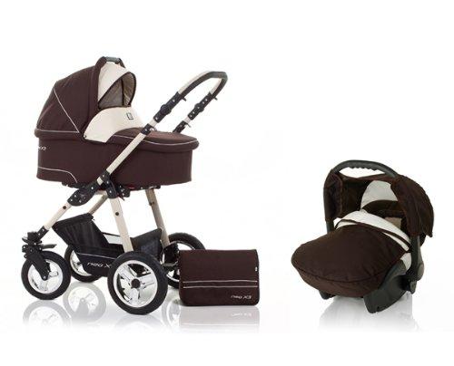 3 in 1 Travelsystem pram pushchair stroller