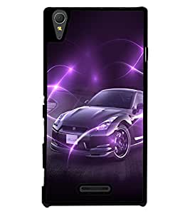 Fuson 2D Printed Car Designer back case cover for Sony Xperia T3 - D4494
