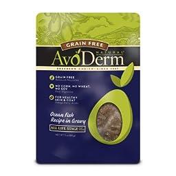 AvoDerm Natural Grain Free Ocean Fish Cat Food Pouches, 3 oz.