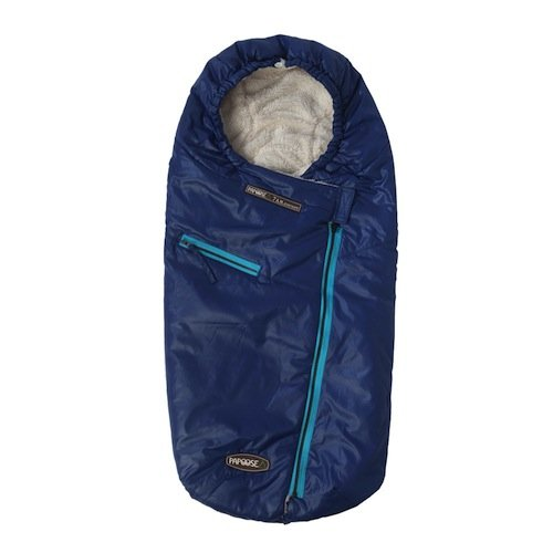 7 A.M. Enfant Papoose Light Weight Baby Bunting Bag, Navy, Medium/Large