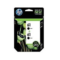 HP 61 Black Original Ink Cartridges, 2 pack (CZ073FN) by Hewlett Packard SOHO Consumables