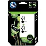 HP No. 61 Ink Cartridge,Twin Pack, Black