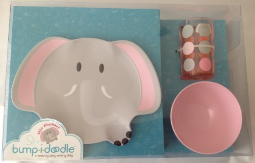 Bumpidoodle Ellie Elephant Toddler Dinnerware