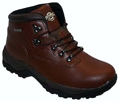 MENS BROWN WATERPROOF BOOTS,HIKING,WALKING,LEATHER UK6