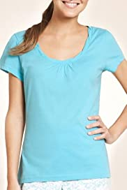 Pure Cotton Twisted Neckline Pyjama Top [T37-3184-S-BGHF]