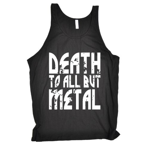 death-to-all-but-metal-new-premium-tank-vest-top-xs-black-slogan-funny-clothing-joke-novelty-vintage