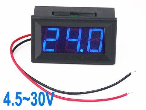 SODIAL(R) Bleu voltmšštre LCD numšŠrique DC 4.5V ~ 30V