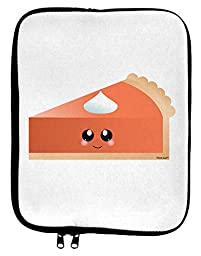 Cute Pumpkin Pie Thanksgiving 9 x 11.5 Tablet Sleeve - White Black