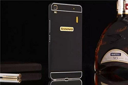 Lenovo A7000 case, Ziaon Aluminum Metal Bumper Frame Case with Acrylic Back Cover for Lenovo A7000 - Black