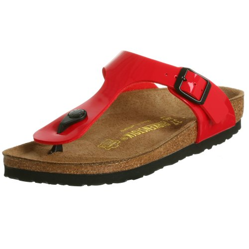 best birkenstock gizeh patent leather sandal red patent 40. Black Bedroom Furniture Sets. Home Design Ideas