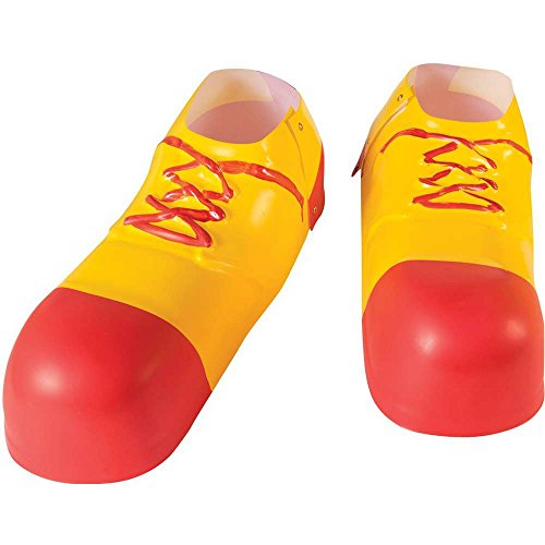 Clown Red & Yellow Plastic Shoe Covers - One Size