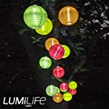 Lumilife 10 Multi Coloured LED Lantern Solar Lights
