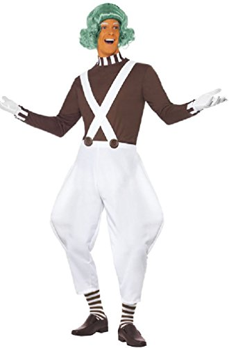 [8eighteen Willy Wonka Candy Creator Male Adult Costume] (Willy Wonka Costumes Girl)
