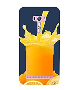 Vizagbeats Orange Juice Back Case Cover for Asus Zenfone Selfie::Asus Zenfone Selfie ZD551KL