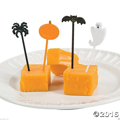 72 HALLOWEEN Party BAT GHOST PUMPKIN SPIDER PICKS