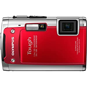 "Olympus  TG-610  Tough 14 MP Digital Camera , 5x Wide Optical Zoom (28mm), 3"" 920K LCD (Red) (Old Model)"