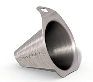 Cole and Mason H699930 Stainless-Steel Funnel by Cole & Mason