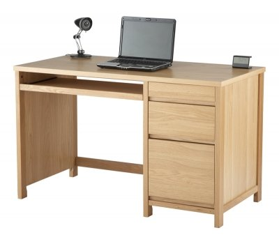 Hunter Oak Home Office Desk With Two Drawers