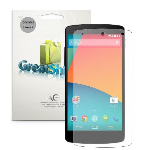 Greatshield Duel Mark Ii Anti Glare (Matte) Screen Protector For Google Nexus 5 / Lg Nexus 5 2013 (Sprint, At&T, T-Mobile, Verizon, Unlocked) (3 Pack) - Lifetime Warranty