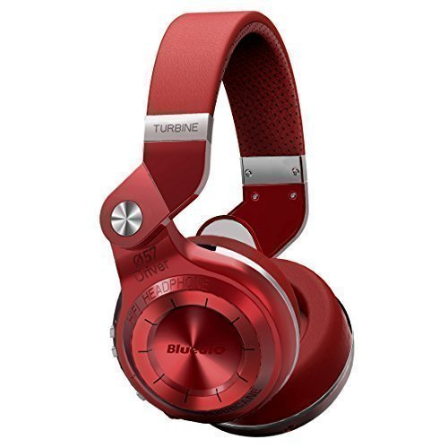 Bluedio T2S (Turbine 2 Shooting Brake) Bluetooth stéréo Casque sans fil Bluetooth 4.1 écouteur la série d' Ouragan Circum-Auriculaire Casque (Rouge)