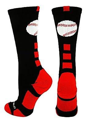 MadSportsStuff Baseball Logo Crew Socks