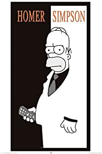 Poster Homer Simpson - Scarface - Größe 61 x 91,5 cm - Maxiposter