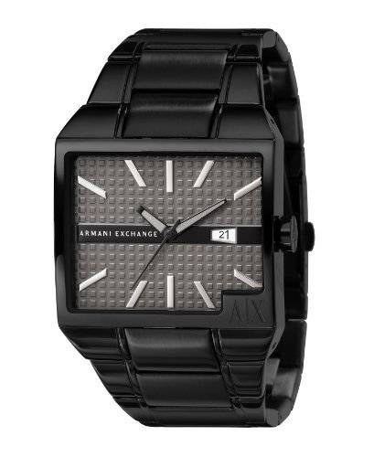 Armani Exchange Men's AX2067 Black Stainless-Steel Quartz Watch with Grey Dial