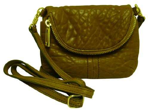 Lodis Synergy Lexy Crossbody Leather Bag Camel
