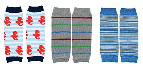 NEWBORN 3 pack of Baby boy or girl leg warmers (Boy Set 1)
