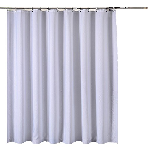 CHESEY Waffle Weave Cotton Shower Curtain Liner Water Resistant Mildew Free 84
