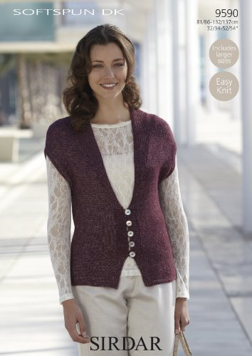 Sirdar Softspun DK Women's Sleeveless Cardigan