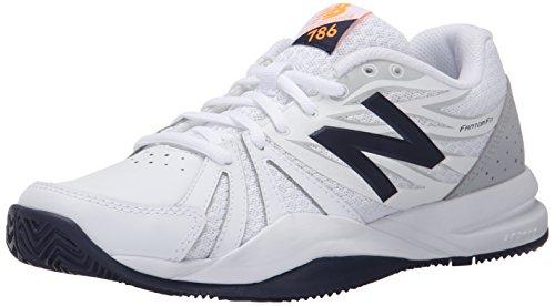 New Balance Women's 786v2 Tennis Shoe, White/Blue, 7.5 D US