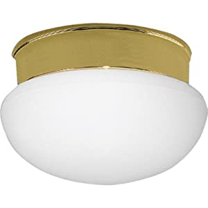 Progress Lighting P3408-10 1-Light Close-To-Ceiling Fixture, Polished Brass