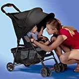 RayShade® UV Protective Stroller Shade Improves Sun Protection for Strollers, Joggers and Prams Black