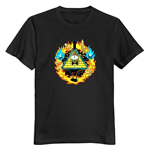 Men Bill Cipher Gravity Falls Custom Causal Size S Color Black T Shirt By Mjensen