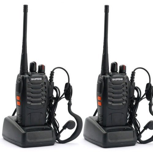 Nestling® 2PCS 400-470 MHz BaoFeng Walkie Talkie Two Way Radio Rechargeable Long Range Headset Headphone Built in LED Torch BF-888s(pack of 2)