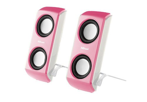 Trust Portable Notebook Speakers pink