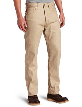 Levi's Men's 501 Shrint To Fit Jean, Sand Rigid, 32 32
