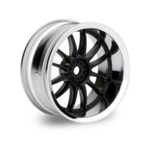 Hpi Racing 3287 Work Xsa 02C Wheel, 6Mm Offset, Chrome And Black