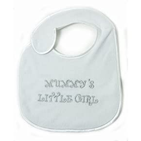 Baby Girl - Mummys Little Girl Design Embroidered Bib with Velcro Strap