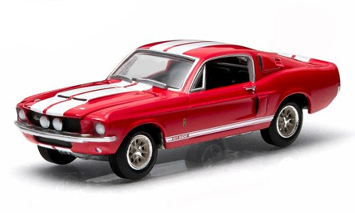 Shelby GT 500, red, 1967, Model Car, Ready-made, Greenlight 1:64