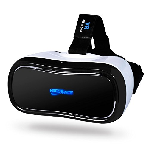 BestFace 3D VR All in One Virtual Reality Headset WiFi 2.4G Bluetooth HDMI 1080P 360 Viewing Immersive Supports TF Card for PC Movie and PS4 Xbox Games Youtube Google Play