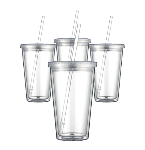 Maars Classic Insulated Tumblers 16 oz. | Double Wall Acrylic | 12 pack (Cups With Lids And Straws compare prices)