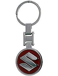 Techpro Suzuki Red Metal Key Chain (Multi-Color)