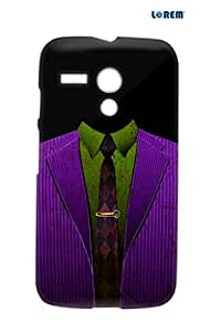 Lorem Back Cover For Moto G (X1032)-Purple-L27004