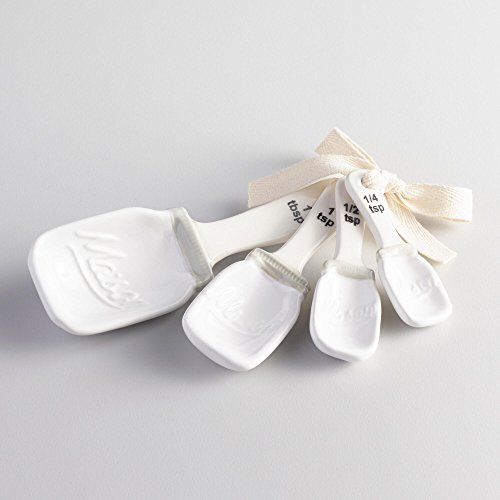 Mason Jar Measuring Spoons (White) (Mason Jar Measuring Spoons compare prices)