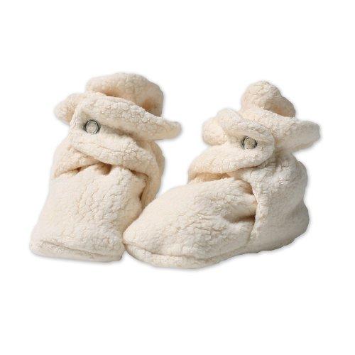 Zutano Newborn Unisex-Baby Fleece Bootie, Cream, 6 Months front-498576